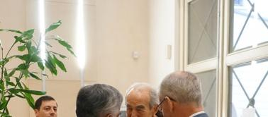 Robert Badinter et les présidents du CSM