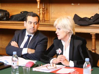 M. Ghaleh Marzban, Directeur des services judiciaires et Mme Isabelle Rome, Haute Fonctionnaire à l'égalité femmes-hommes