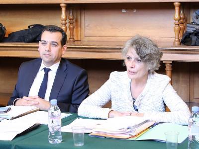 M. Ghaleh Marzban, Directeur des services judiciaires et Mme Pignon, Directrice des affaires criminelles et des grâces