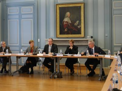 Rencontre avec les chefs de cour d'appel M. Seither, premier président, et Mme Le Queau, procureure générale