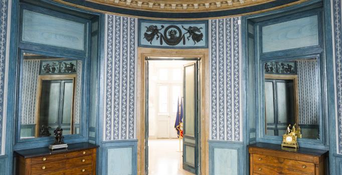 Salon bleu de l'hôtel Moreau-Lequeu